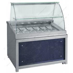 Επαγγελματικό Ψυγείο Τόστ - Σαλατών 110x90 εκ. Συντήρηση με 1 Πόρτα & Βιτρίνα 3GN 1/1