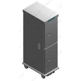 Τροχήλατος Θερμοθάλαμος 24 GN1/1 με Υγρασία CA26GN1/1R-2P EMAINOX Ιταλίας