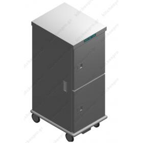 Τροχήλατος Θερμοθάλαμος 24 GN2/1 με Υγρασία CA26GN2/1R-2P EMAINOX Ιταλίας