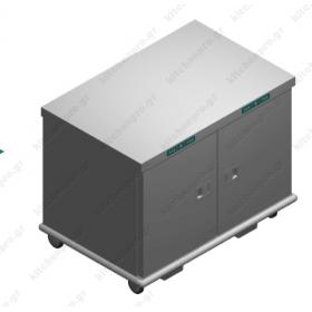 Τροχήλατος Θερμοθάλαμος 26 GN2/1 με Υγρασία EXDUAL26GN2/1R EMAINOX Ιταλίας