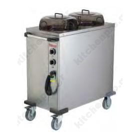 Θερμαινόμενο Τροχήλατο Μεταφοράς Πιάτων Ø240-320mm HPL232
