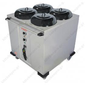 Θερμαινόμενο Τροχήλατο Μεταφοράς Πιάτων Ø240-320mm HPL432