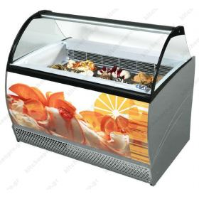 Επαγγελματικό Ψυγείο Βιτρίνα Παγωτού για 10 Λεκανάκια ISA Ιταλίας ISABELLA 10 RS