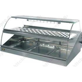 Επιτραπέζια Θερμαινόμενη Βιτρίνα 100x72 εκ. VVC1000 ROLLERGRILL Γαλλίας