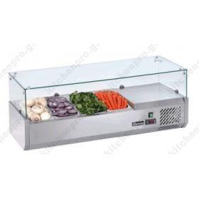 Επιτραπέζια Βιτρίνα Πίτσας - Τόστ για 4 Λεκανάκια GN1/3 120 εκ SAL 1200-38