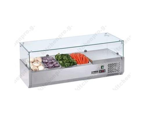 Επιτραπέζια Βιτρίνα Πίτσας - Τόστ για 4 Λεκανάκια GN1/3 120 εκ SAL1200-38 FRESH