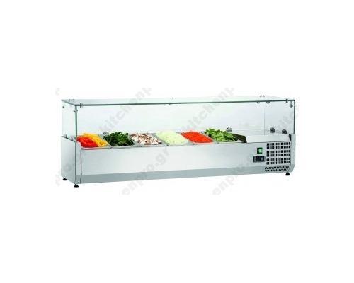 Επιτραπέζια Βιτρίνα Πίτσας - Τόστ για 6 Λεκανάκια GN1/3 150 εκ. SAL 1500-38 FRESH