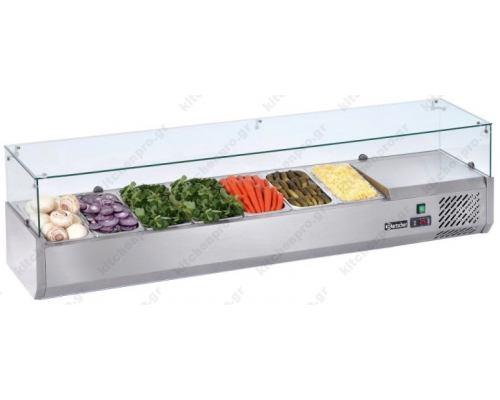 Επιτραπέζια Βιτρίνα Πίτσας - Τόστ για 8 Λεκανάκια 180 εκ SAL 1800-38 FRESH