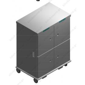 Τροχήλατος Θερμοθάλαμος 48 GN2/1 με Υγρασία CADUAL52GN2/1R-4P EMAINOX Ιταλίας