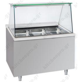 Επαγγελματικό Ψυγείο Τόστ - Σαλατών 110x90 εκ. Συντήρηση με Βιτρίνα 3GN 1/1