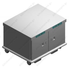 Τροχήλατος Θερμοθάλαμος 14 GN1/1 με Υγρασία UCDUAL14GN1/1R EMAINOX Ιταλίας