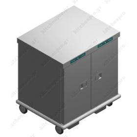 Τροχήλατος Θερμοθάλαμος 26 GN1/1 με Υγρασία EXDUAL26GN1/1R EMAINOX Ιταλίας