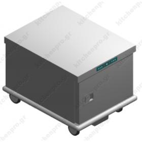 Τροχήλατος Θερμοθάλαμος 7GN2/1 ή 14GN1/1 με Υγρασία UC7GN2/1R EMAINOX Ιταλίας