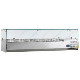 Επιτραπέζια Βιτρίνα Πίτσας - Τόστ για 6 Λεκανάκια GN1/3 150 εκ TEFCOLD, VK38-150