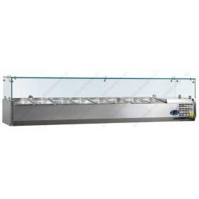 Επιτραπέζια Βιτρίνα Πίτσας - Τόστ για 8 Λεκανάκια GN1/3 180 εκ TEFCOLD, VK38-180
