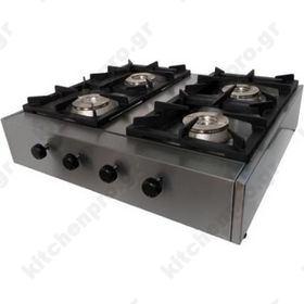 Επιτραπέζια Κουζίνα 4 Εστιών με Μαντέμι KALLISTI 4 ECOM VRETTOS