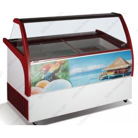 Επαγγελματικό Ψυγείο Βιτρίνα Παγωτού για 11 Λεκανάκια KITCHENPRO
