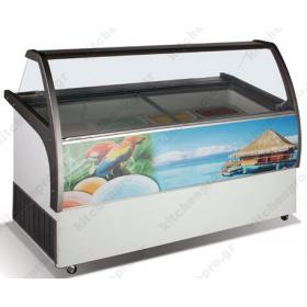 Επαγγελματικό Ψυγείο Βιτρίνα Παγωτού για 14 Λεκανάκια KITCHENPRO