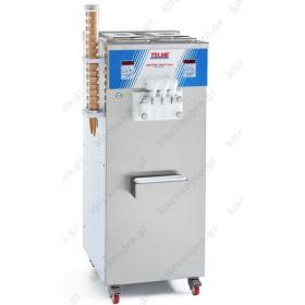 Μηχανή SOFT Παγωτού 3 Γεύσεις 90% Διόγκωση TELME Ιταλίας Σειρά SOFTGEL 400 TWIN P