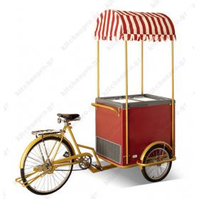 Ποδήλατο - Βιτρίνα Παγωτού Φορητό για 6 Λεκανάκια KITCHENPRO
