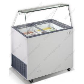 Επαγγελματικό Ψυγείο Βιτρίνα Παγωτού για 6 Λεκανάκια KITCHENPRO