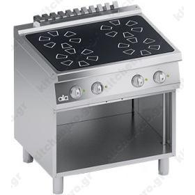 Επιδαπέδια Επαγωγική Κουζίνα 4 Εστιών 80x70 εκ 20KW ATA srl Ιταλίας