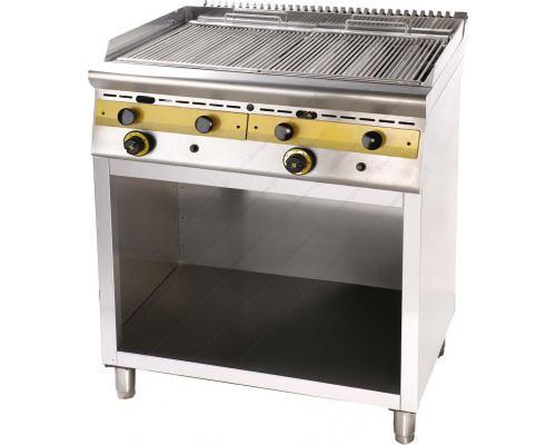 Επαγγελματικό Grill (Γκριλίερα) Αερίου Διπλό 80 x 75 εκ. με Βάση WG8S7 SERGAS