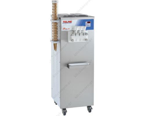 Μηχανή Soft Παγωτού 3 Γεύσεις SOFTGEL 336 TELME Ιταλίας