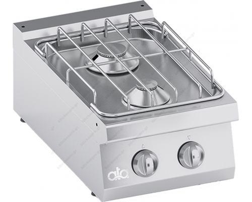 Επιτραπέζια Κουζίνα 2 Εστιών Αερίου 40 x 70 εκ. C2GCU05TT ATA srl Ιταλίας