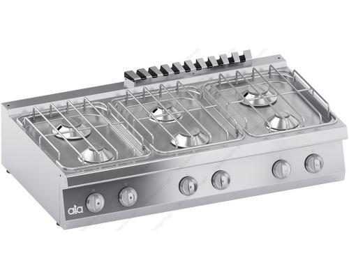Επιτραπέζια Κουζίνα Αερίου 6 Εστιών 120 x 70 εκ. C2GCU15TT ATA srl Ιταλίας