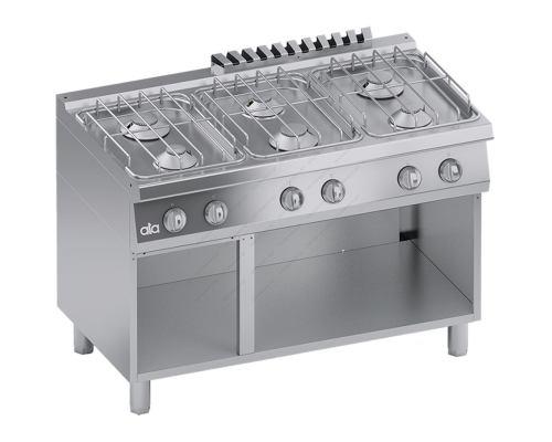 Επαγγελματική Κουζίνα Αερίου 6 Εστιών & Αποθηκευτικό Ερμάριο S700 120 x 70 εκ. C2GCU15VV ATA srl Ιταλίας