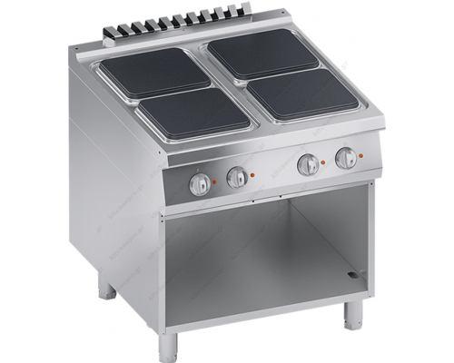 Επαγγελματική Hλεκτρική Κουζίνα 4 Εστιών + Ερμάριο S900 80 x90 εκ. K4ECUP10VV ATA srl Ιταλίας