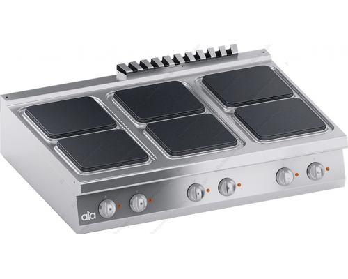 Επιτραπέζια Ηλεκτρική Κουζίνα 6 Εστιών 120 x 90 εκ. K4ECUP15TT ATA srl Ιταλίας