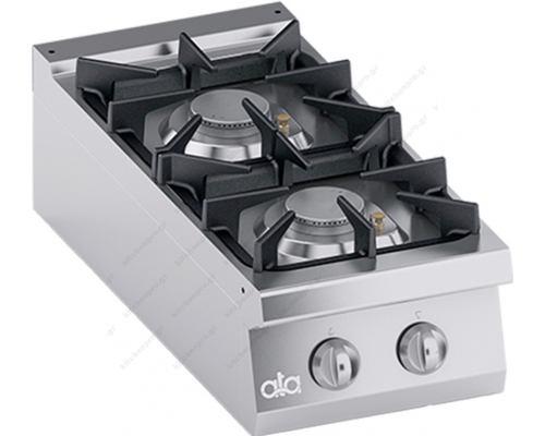 Επιτραπέζια Κουζίνα Αερίου 2 Εστιών 40 x 90 εκ. K4GCUS05TT ATA srl Ιταλίας