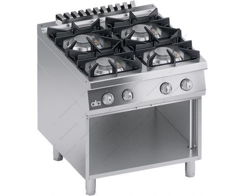 Επαγγελματική Κουζίνα Αερίου 4 Εστιών + Eρμάριο S900 80 x 90 εκ. K4GCUS10VV ATA srl Ιταλίας