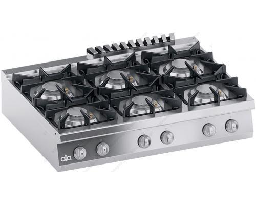 Επιτραπέζια Κουζίνα Αερίου 6 Εστιών 120 x 90 εκ. K4GCUS15TT ATA srl Ιταλίας