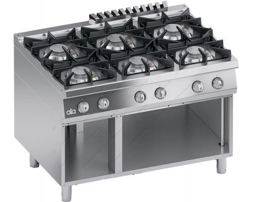 Επαγγελματική Κουζίνα Αερίου 6 Εστιών + Ερμάριο S900 120 x 90 εκ. K4GCUS15VV ATA srl Ιταλίας