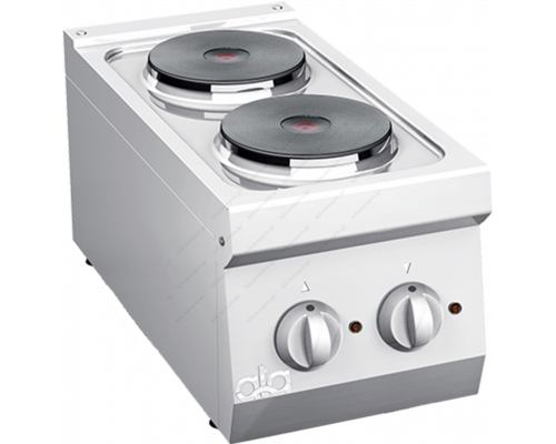 Επιτραπέζια Hλεκτρική Κουζίνα 2 Εστιών 30 x 60 εκ. Κ6ECU05ΤΤ ATA srl Ιταλίας