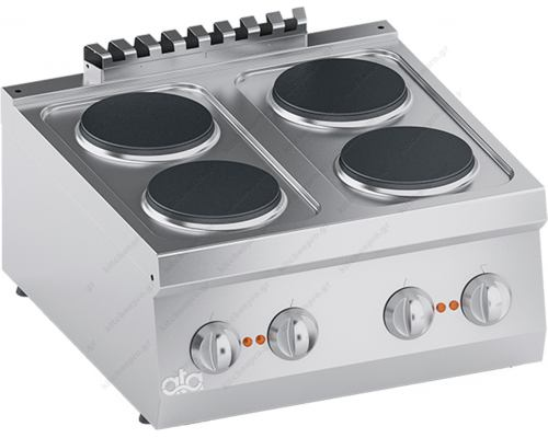 Επιτραπέζια Ηλεκτρική Κουζίνα 4 Εστιών 60 x 60 εκ. Κ6ECU10ΤΤ ATA srl Ιταλίας