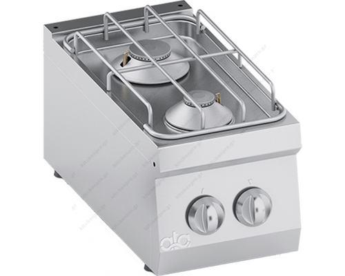 Επιτραπέζια Κουζίνα 2 Εστιών Αερίου 30 x 60 εκ. K6GCU05TT ATA srl Ιταλίας
