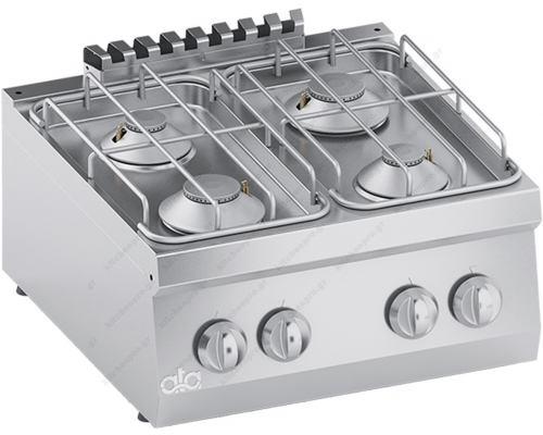 Επιτραπέζια Κουζίνα 4 Εστιών Αερίου 60 x 60 εκ. K6GCU10TT ATA srl Ιταλίας