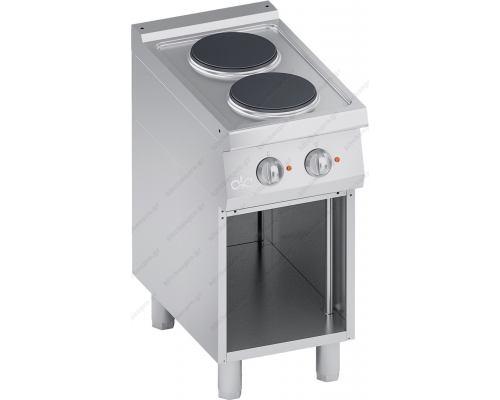 Επαγγελματική Hλεκτρική Κουζίνα 2 Εστιών + Ερμάριο S700 40 x 70 εκ. K7ECU05VV ATA srl Ιταλίας