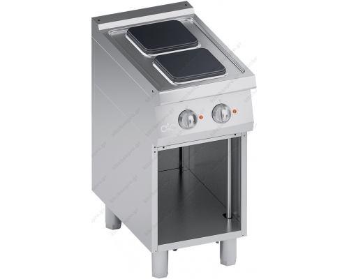 Επαγγελματική Ηλεκτρική Κουζίνα 2 Εστιών + Ερμάριο S700 40 x 70 εκ. K7ECU05VVQ ATA srl Ιταλίας