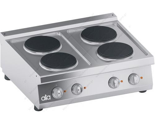 Επιτραπέζια Hλεκτρική Κουζίνα 4 Εστιών 80 x 70 εκ. K7ECU10TT ATA srl Ιταλίας