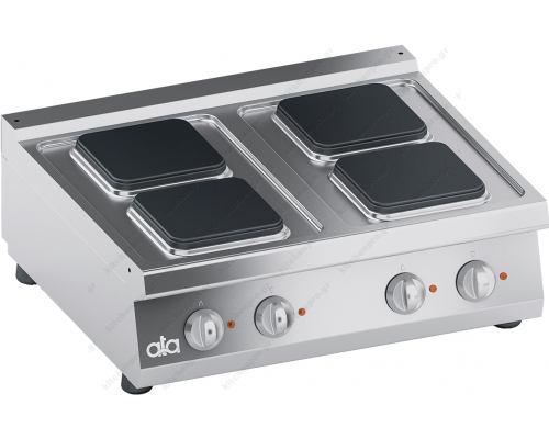 Επιτραπέζια Ηλεκτρική Κουζίνα 4 Εστιών 80 x 70 εκ. K7ECU10TTQ ATA srl Ιταλίας