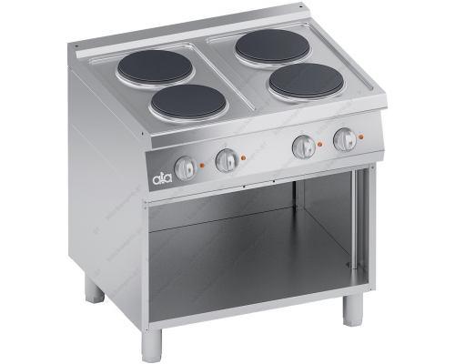 Επαγγελματική Ηλεκτρική Κουζίνα 4 Εστιών + Ερμάριο σειρά S700 80 x 70 εκ. K7ECU10VV ATA srl Ιταλίας