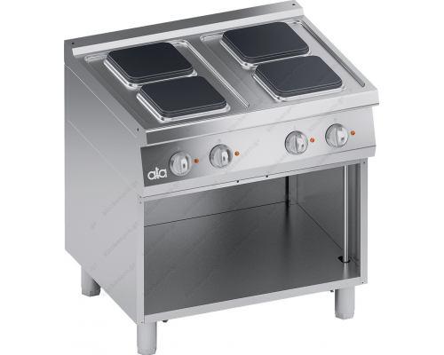Επαγγελματική Ηλεκτρική Κουζίνα 4 Εστιών + Ερμάριο S700 80 x70 εκ.K7ECU10VVQ ATA srl Ιταλίας