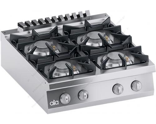 Επιτραπέζια Κουζίνα Αερίου 4 Εστιών 80 x 70 εκ. ''High Power'' K7GCU10TTP ATA srl Ιταλίας