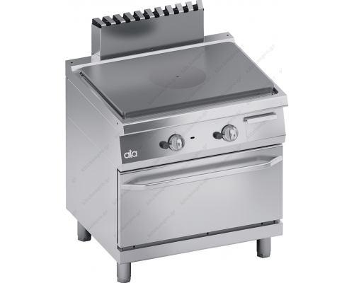 Επαγγελματική Κουζίνα Αερίου Ενιαίας Πλάκας + Φούρνος Αερίου S700 80 x 70 εκ. K7GTP10FF ATA srl Ιταλίας
