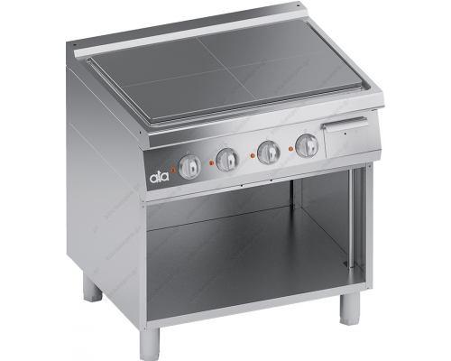 Επαγγελματική Ηλεκτρική Κουζίνα Ενιαίας Πλάκας + Ερμάριο S900 80 x 90 εκ. K9ETP10VV ATA srl Ιταλίας